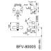 Vòi Sen Tắm Inax BFV-8000S-5C Nóng Lạnh Vòi Sen Tắm