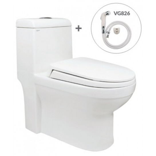 Bồn Cầu Viglacera V41 Nắp Êm V86 + Vòi Xịt VG826