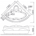 Bồn Tắm Góc Chân Yếm CAESAR AT5132 Bồn Tắm