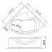 Bồn Tắm Góc Chân Yếm CAESAR AT5140 Bồn Tắm
