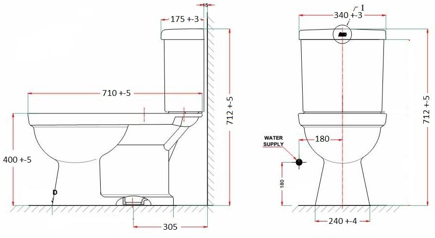 Bản vẽ bàn cầu American Standard VF-2024