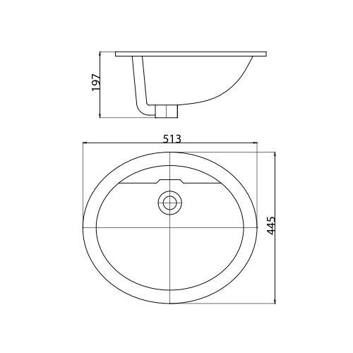 Bản vẽ kỹ thuật chậu rửa mặt CD1