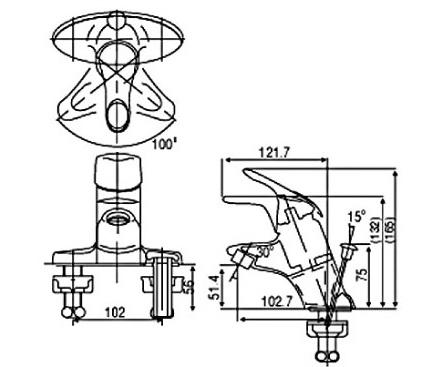 Bản vẽ kỹ thuật vòi Inax nóng lạnh LFV-202S