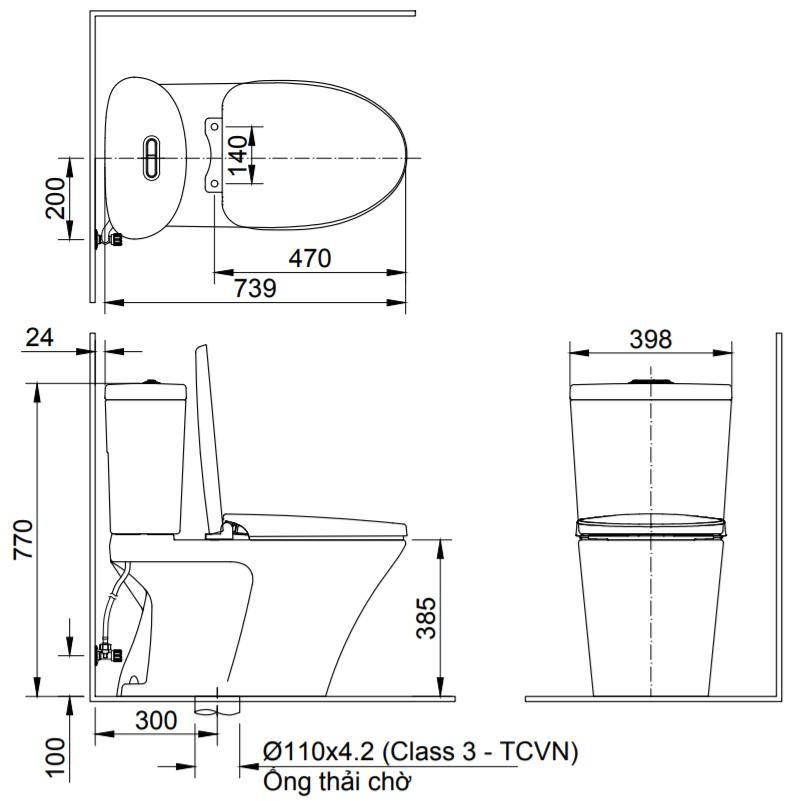 bản vẽ inax ac-700van