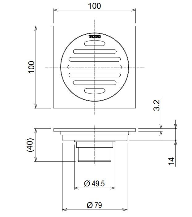 bản vẽ kỹ thuật Toto TVBA407