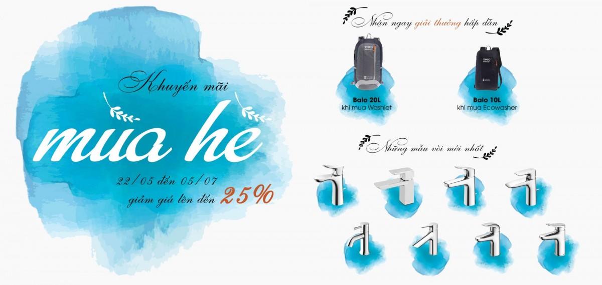 Chương trình khuyến mãi thiết bị vệ sinh phòng tắm TOTO mùa hè 2017