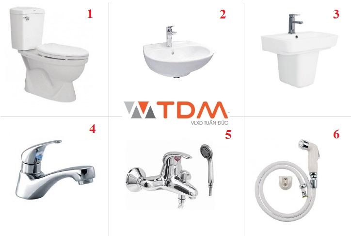 Trọn bộ thiết bị vệ sinh Viglacera chỉ với giá 1.9 triệu đồng