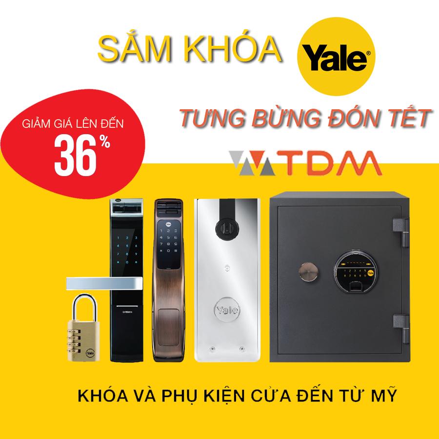 Khuyến mãi khóa cửa điện tử YALE tưng bừng đón tết 2018 – 2019