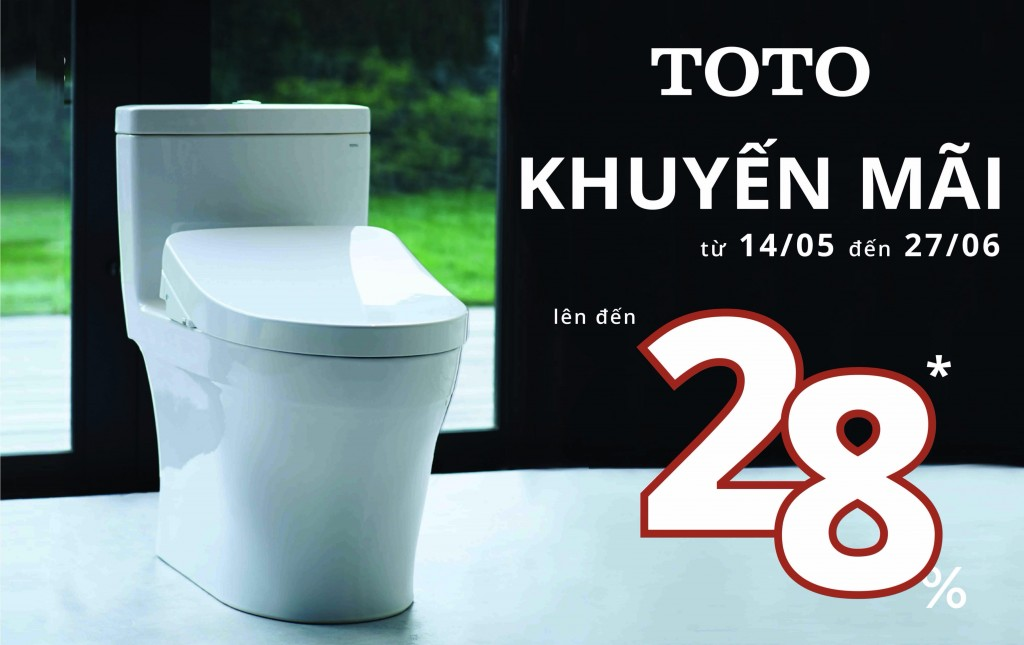 Khuyến mãi thiết bị vệ sinh TOTO mùa Hè 2019