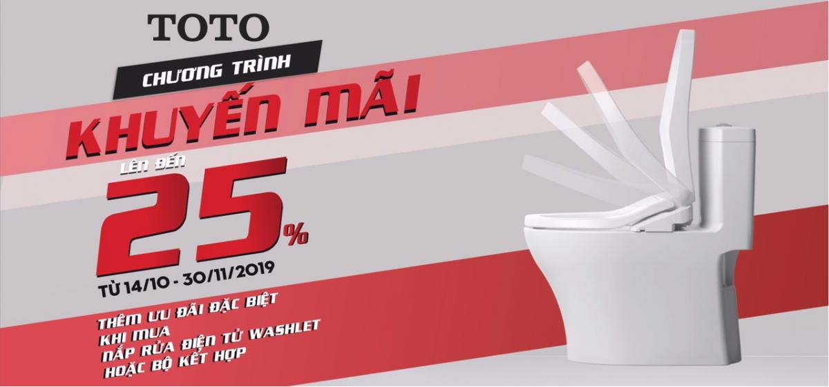 [KM] Thiết Bị Vệ Sinh Toto Mùa Đông 2019 – Ưu Đãi Đến 30%