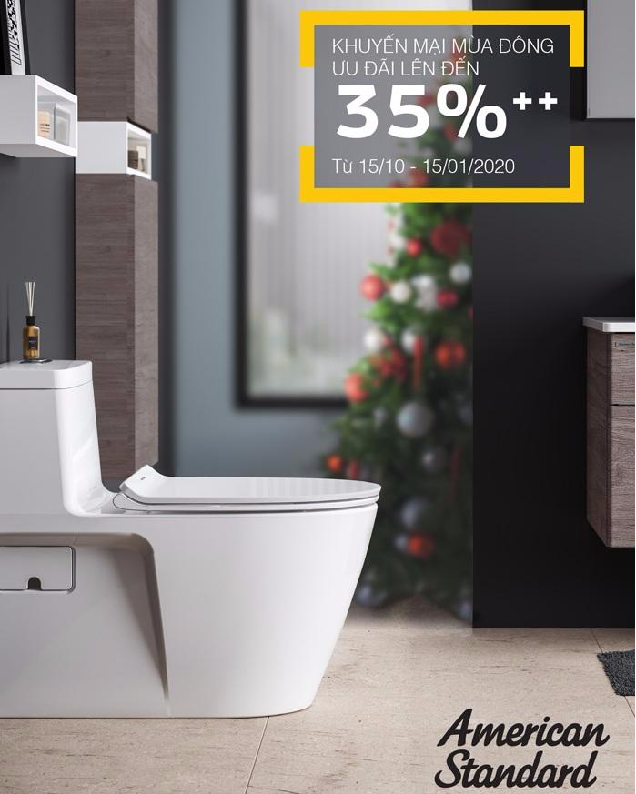 [KM] Khuyến mãi thiết bị vệ sinh American Standard cuối năm 2019 – giảm giá sốc lên đến 50%