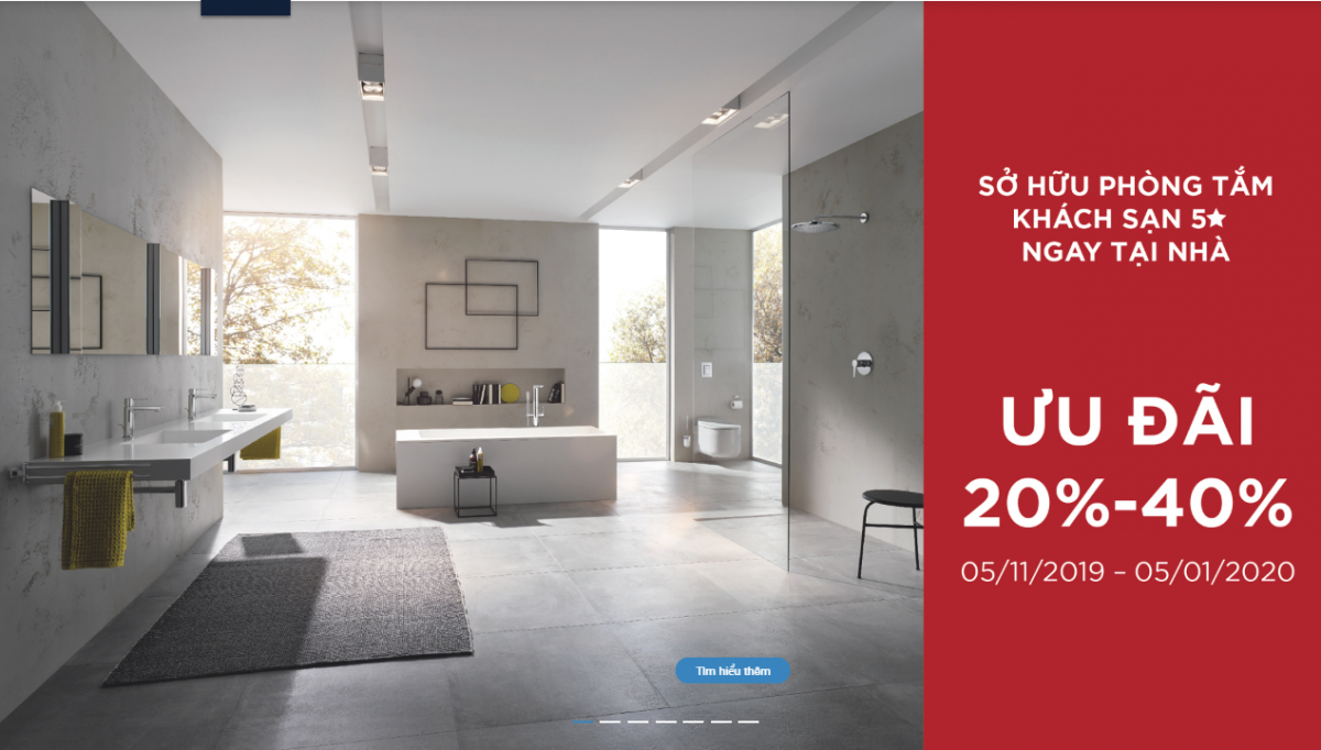 """[KM] Khuyến mãi thiết bị vệ sinh Grohe cuối năm 2019 – giảm giá cực """"sốc"""" lên đến 40%"""