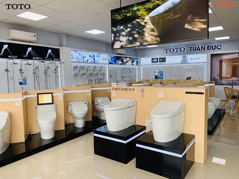 Cửa hàng đại lý bán bồn cầu Toto 1 khối 2 khối giá tốt tại TPHCM Hà Nội