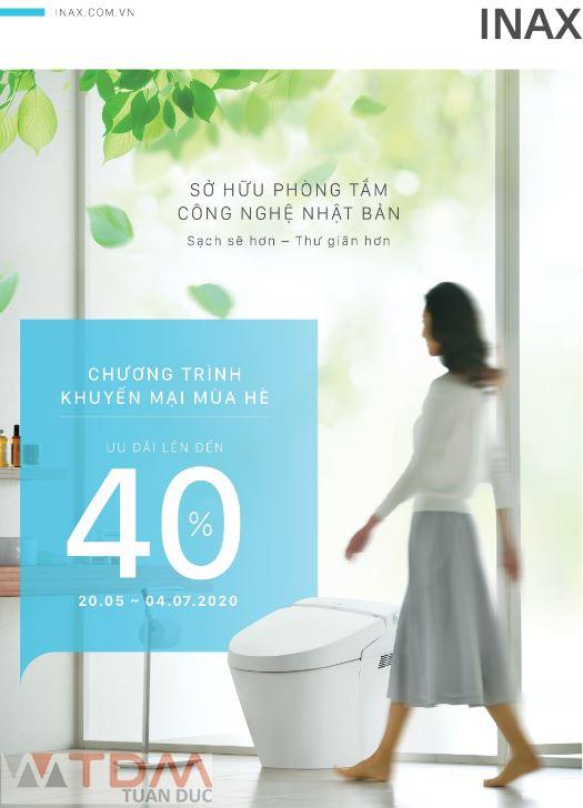 Chương trình thiết bị vệ sinh INAX khuyến mãi mùa hè 2020