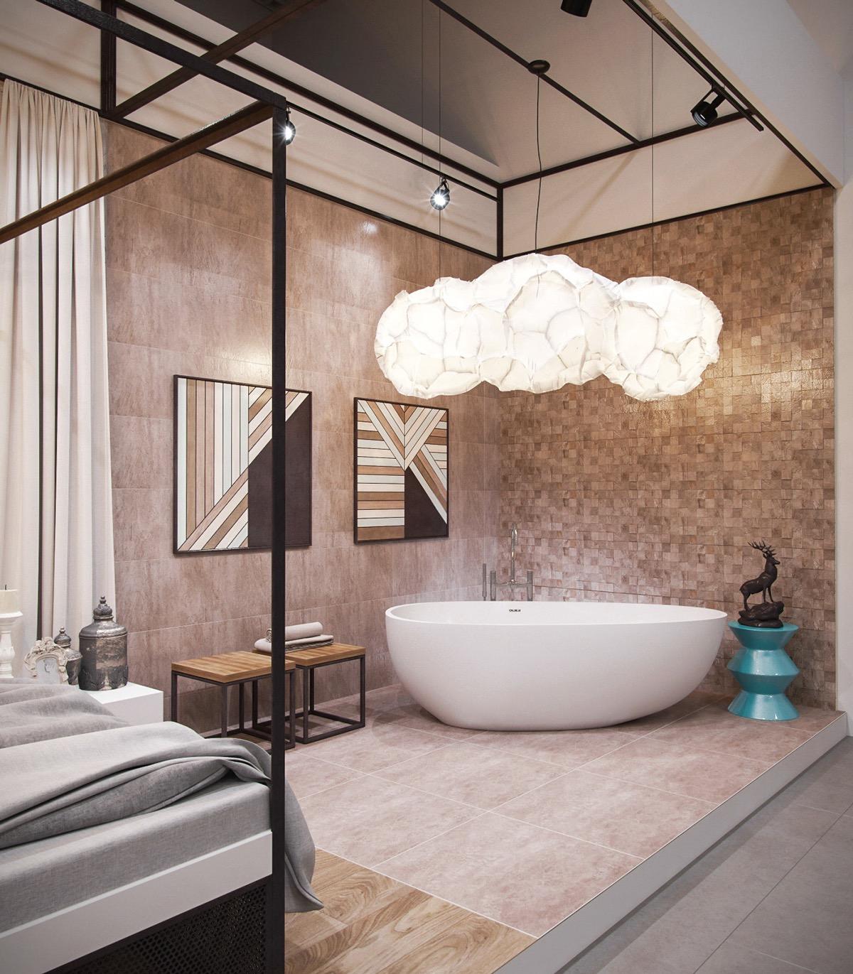 Tư vấn thiết kế lắp đặt bồn tắm trong phòng ngủ đẹp sang trọng cần biết