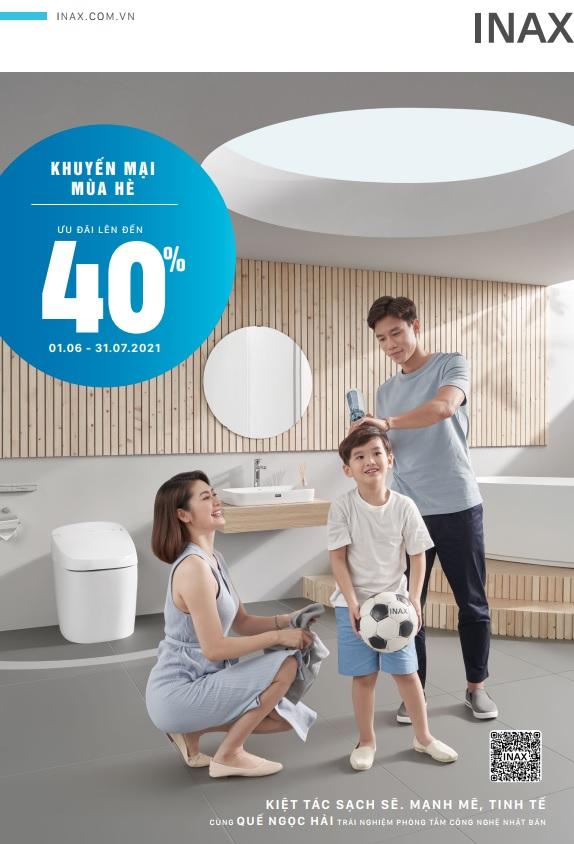 Thiết bị vệ sinh INAX khuyến mãi mùa hè 2021 – Giảm giá lên đến 40%