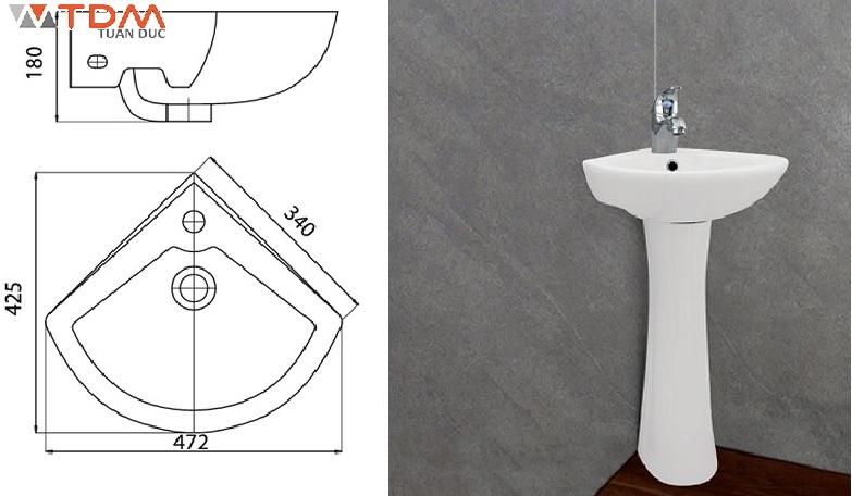 Tất cả mẫu lavabo góc chậu rửa rửa mặt kích thước siêu nhỏ phù hợp