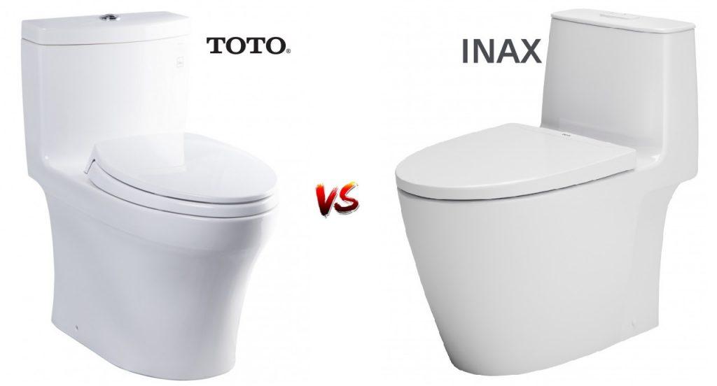 So sánh bồn cầu Inax và bồn cầu Toto nên mua hãng nào? Tại sao?